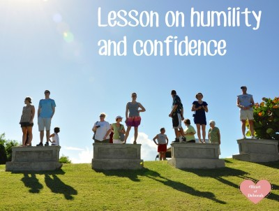 lessons on humility and having a lack of confidence