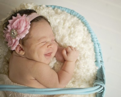 baby girl newborn photograph