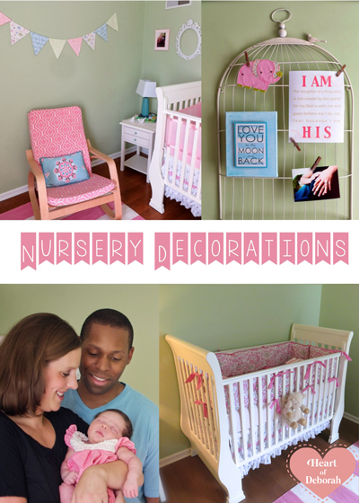Baby girl nursery decorations and ideas.