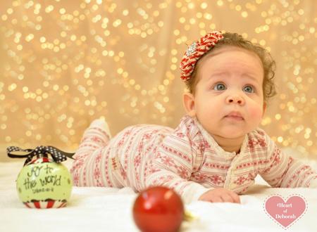 baby christmas card photograph
