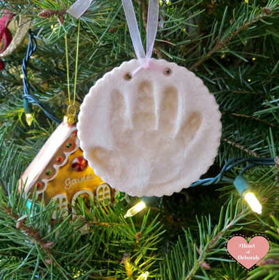 baby salt dough ornament for christmas