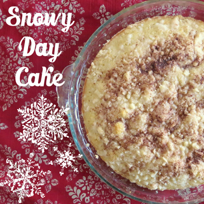 Recipe for snowy day cake, a delicious dessert recipe for the first snow fall of winter!