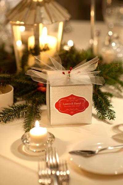 christmas wedding decorations, diy wedding favors