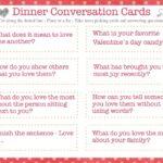 Dinner Conversation Starters – Valentine's Day Edition