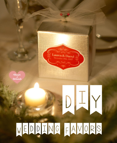 diy wedding favors, christmas wedding favors, christmas wedding decorations
