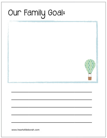 Complete this family goal book together in the New Year! Free download to print.