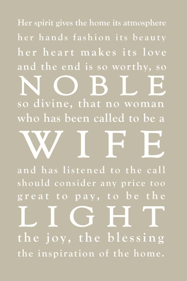 Called to Be a Wife and Mother // Free Printable - Heart of Deborah