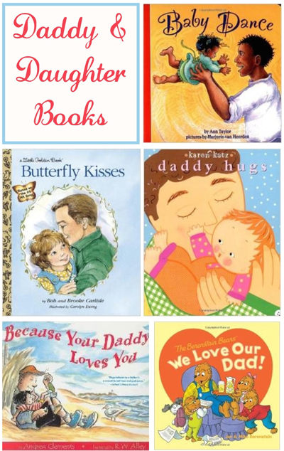 Great father daughter books to read together! A list of daddy and daughter books perfect for Father's Day.