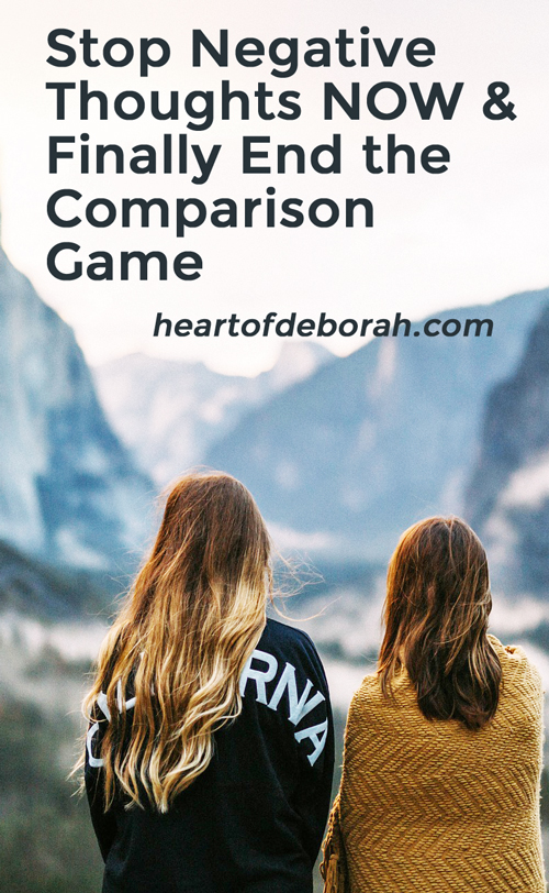 It's SO easy to start comparing your life to someone else's life. Especially with social media. So how do we stop playing the comparison game? Here are some practical tips to reducing negative self-talk after viewing social media!