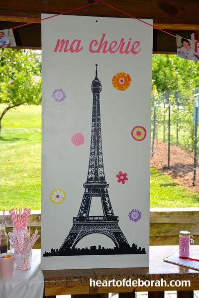 french theme birthday party, eiffel tower