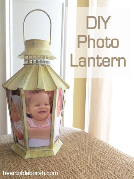 DIY photo lantern, DIY photo craft