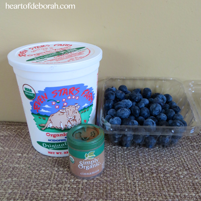 Frozen yogurt blueberries recipe