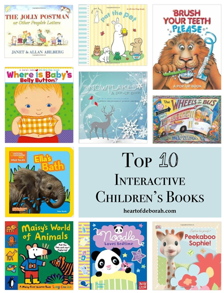 Top 10 interactive children's books for babies and toddlers.