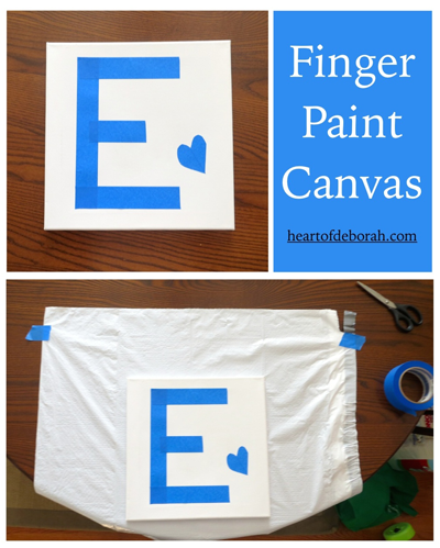 Finger Painting Craft for Toddlers