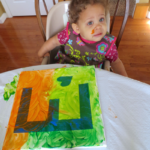 Toddler Finger Painting Craft