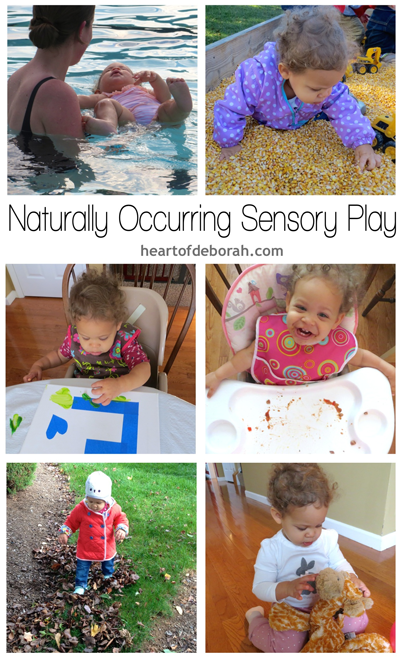 A list of naturally occurring sensory play for your toddler and children.