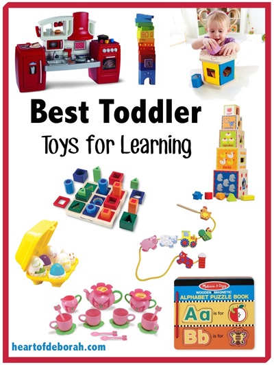 What Are The Best Learning Toys For Toddlers : Best toddler learning toys heart of deborah