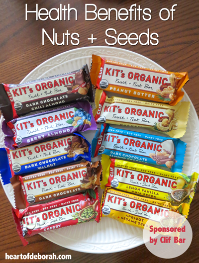 Health benefits of nuts + seeds plus a Clif Bar review