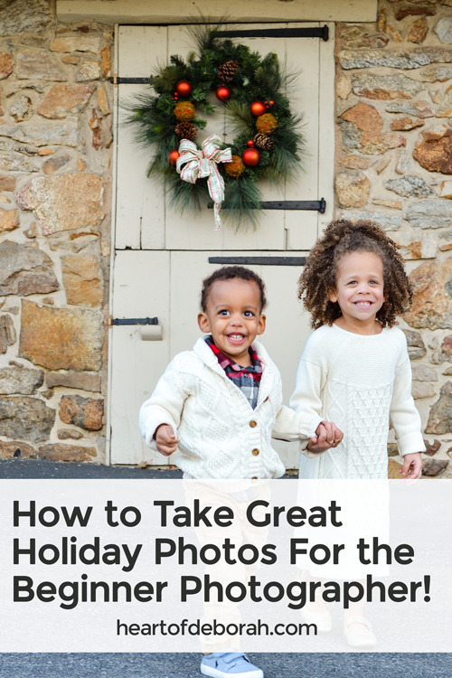 Take better holiday photos this year with these 5 easy photography tips! Any beginner can use these tips to improve their photography.