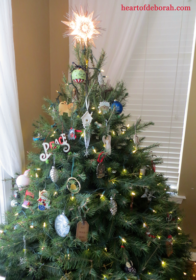 Our Christmas tree and other festive Christmas decorations.