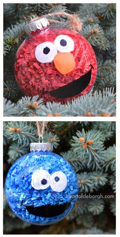 DIY Sesame Street Inspired Christmas Ornaments - Heart of ...