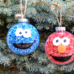 DIY Sesame Street Inspired Christmas Ornaments