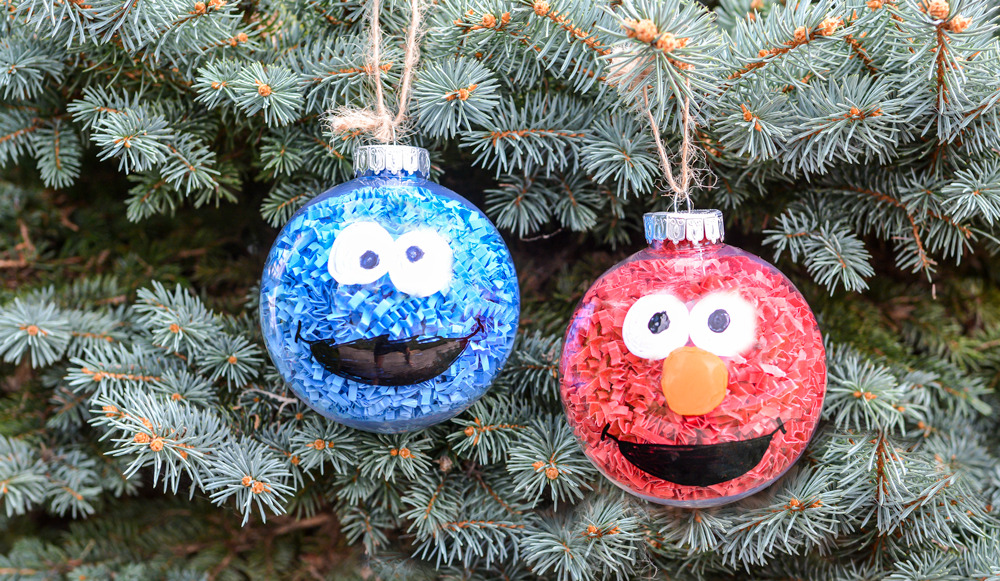 Adorable Sesame Street Ornaments DIY For Kids Crafts