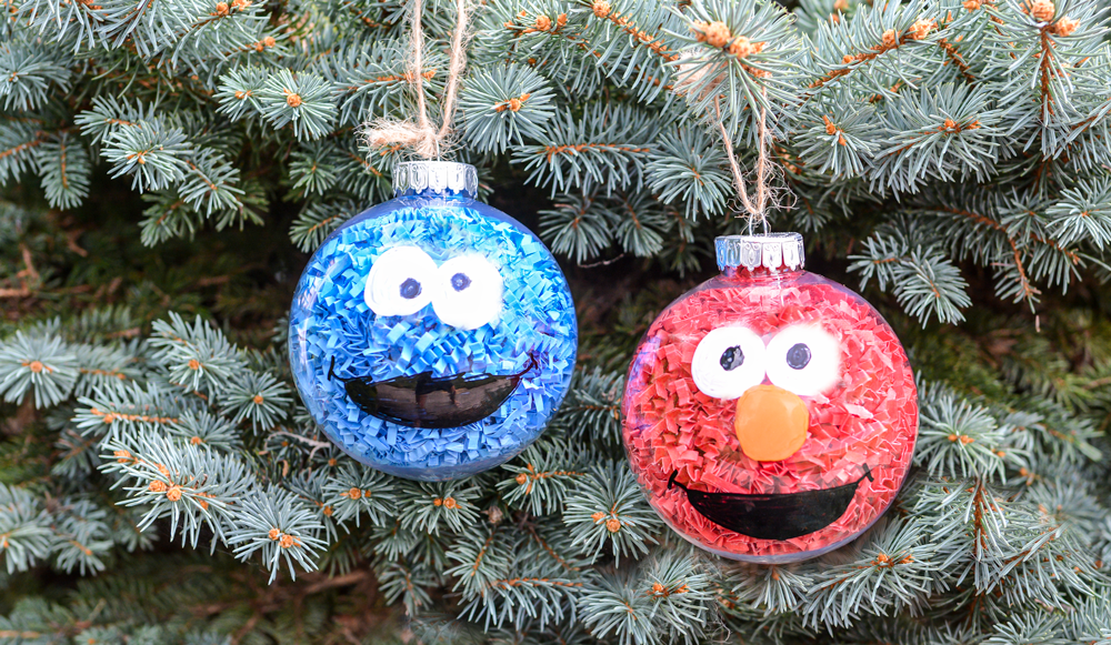 Adorable Sesame Street Ornaments DIY For Kids Crafts