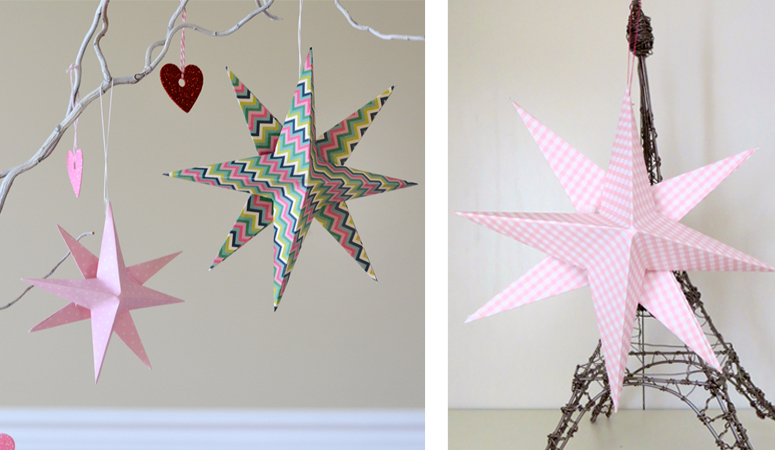 A fun and easy DIY Valentine's Day craft. You can make these 3-D stars for any time of the year. Teach your kids simple origami with these step by step directions.