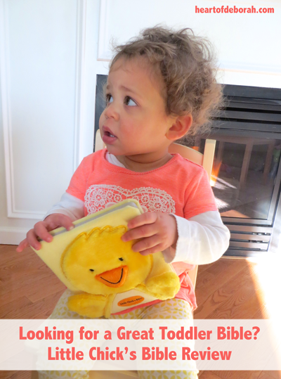 The Little Chick's Bible board book is perfect for teaching toddlers Bible stories.