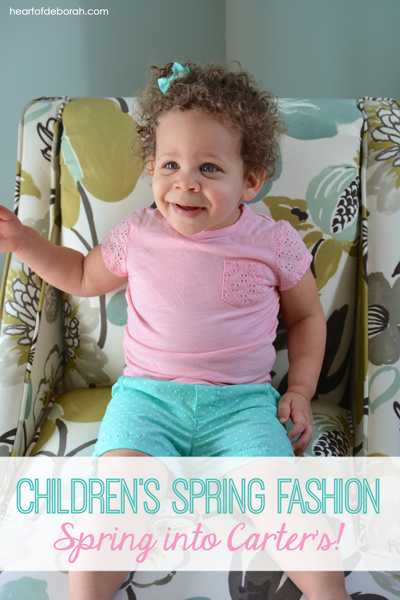 Spring into Carter's this year for your favorite kid's clothes. You will love the bright colors and fun patterns for your toddler's fashion.