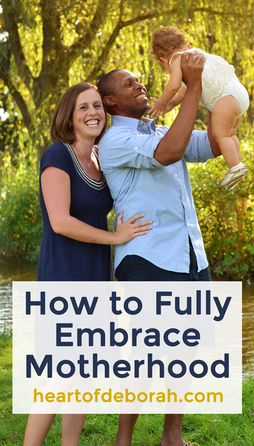 How to fully embrace motherhood and live in the moment with ease. #motherhood #positiveparenting
