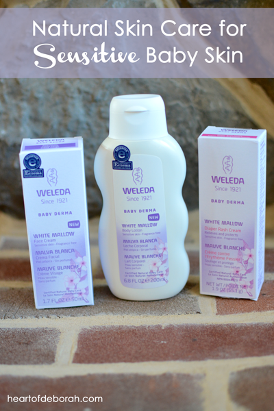 Nature skin care for baby's with sensitive skin. Why we love Weleda's baby derma collection!