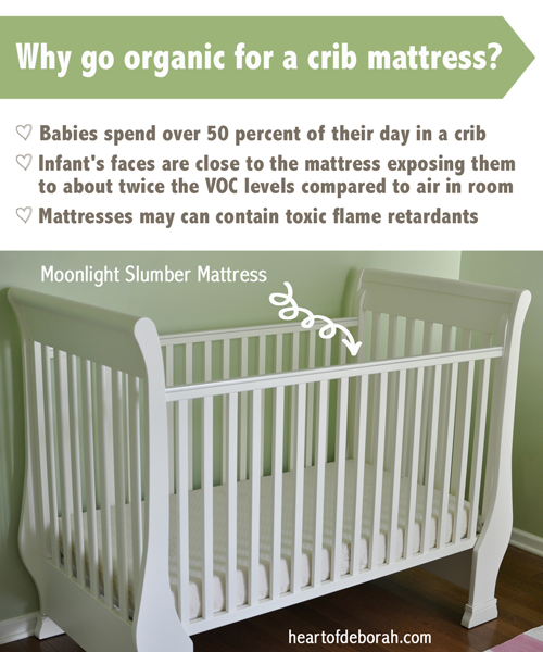 Babies spend over 50% of their day in a crib. Avoid toxic chemicals and learn how to find the best organic crib mattress for your baby!