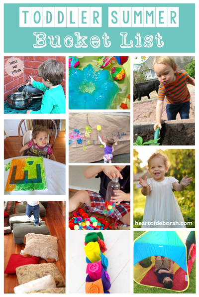 Looking for simple, easy and affordable kid's activities? Check out these 10 outdoor & indoor activities to add to your toddler summer bucket list!