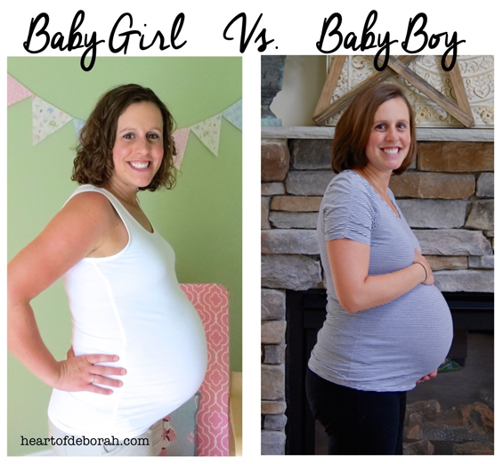 Pregnancy comparison. Did your belly change shapes with a boy versus girl? Also pregnancy update 36.5 weeks!