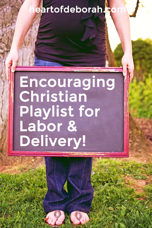 Looking for encouraging music for your labor and delivery? Here is a list of my favorite songs to lift your mood and encourage your soul. The ultimate Christian playlist for labor and delivery!
