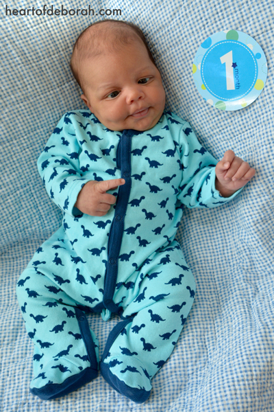 Baby boy's one month update. Time is moving too quickly! Heart of Deborah