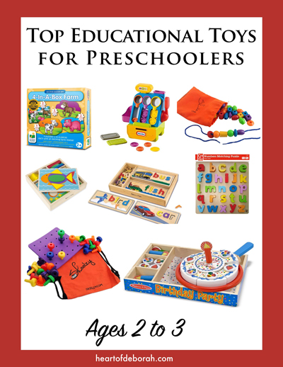 Educational Toys For Toddlers Age 2 : Toys for preschoolers ages to heart of deborah