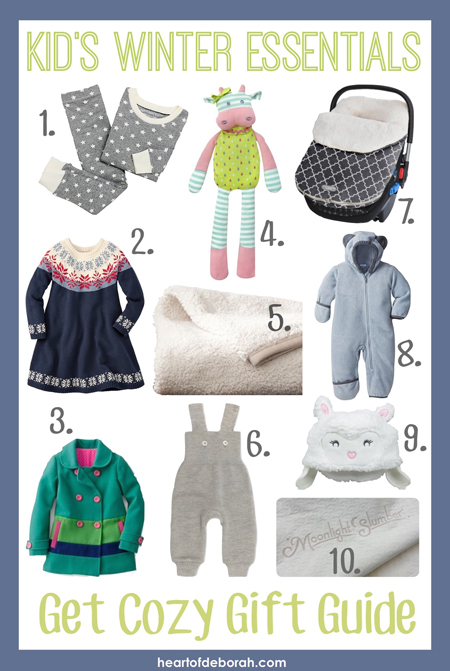 Looking for the perfect holiday gift? Check out these 10 kid's winter essentials. This gift guide features cozy, comfortable and cute ways to stay warm this winter!