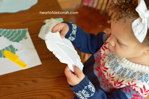DIY Easy Clay Kid's Ornament! Make this adorable Christmas tree craft based off of the Pine Tree Parable Book.