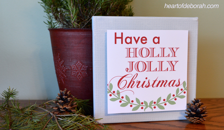 Decorating for Christmas? Don't miss this free Holly Jolly Christmas Printable! Heart of Deborah