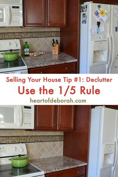 5 Tips to Sell Your House Fast: Tip #1 Declutter with the 1/5 Rule