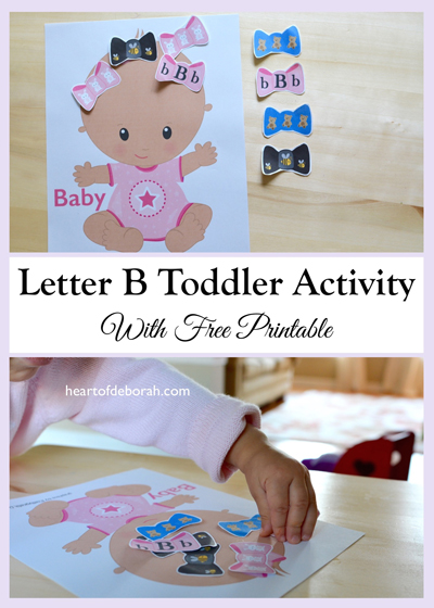 This letter b printable is a great children's activity for letter recognition and exposure to other early literacy skills.