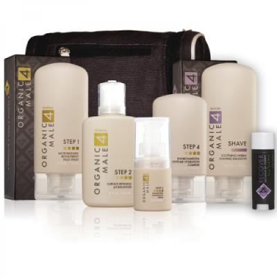 Organic skincare set for men.