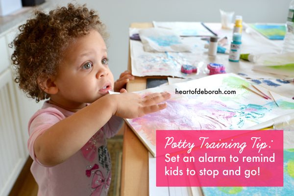 What to do when your child won't stop playing to go potty! 3 tips to help reduce your kid's potty training accidents.