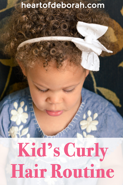 Our favorite hair care products for naturally curly hair and our kid's curly hair routine. Our daughter is biracial and has dense curls! Here are 7 hair care steps to make her curls beautiful.