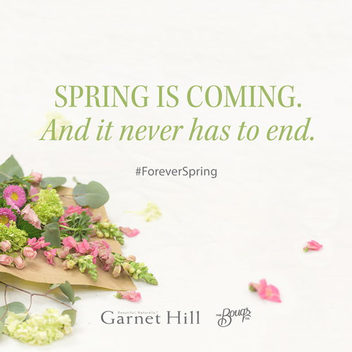 Enter Garnet Hill's #ForeverSpring sweepstakes. Daily prizes up until the first day of spring, as well as one grand prize winner.