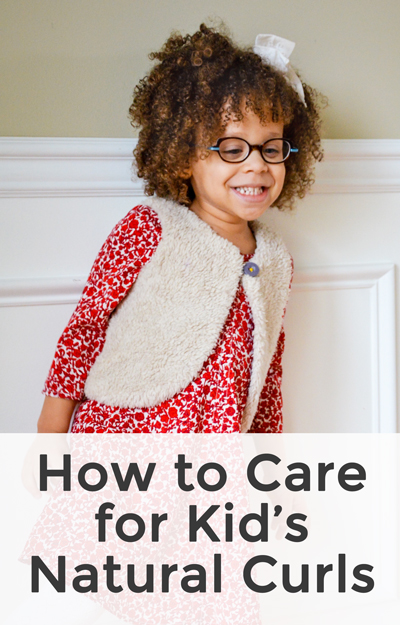 Not sure how to care for your child's natural curls? Check out this kid's curly hair routine to lock in moisture and define curls. #curlyhair #kidshair #naturalcurls #biracialhair
