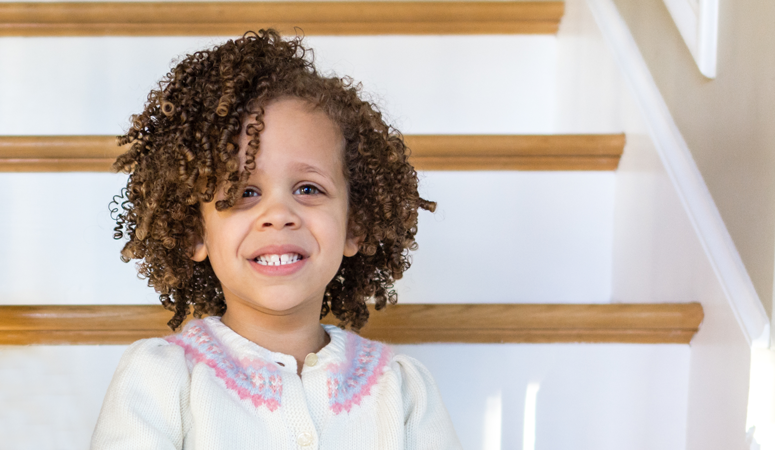 Not sure how to care for your children's curly hair? In this post we share the best curly hair routine for moisture and curl definition. Our daughter is biracial and has dense curls! Throughout the years we've found products that work the best to keep her hair healthy.